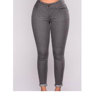 Gray Fashion Jeans
